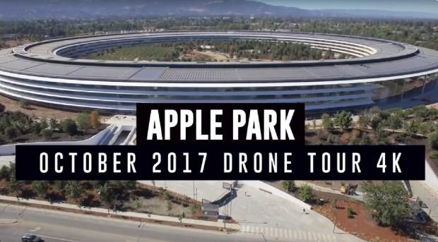 Apple Park, travaux en voie de finition, la vidéo en 4K