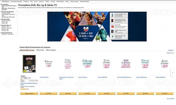 Promos Amazon sur 7 189 titres Blu‑Ray/DVD et série TV Amazon, récapitulatif des meilleures affaires du moment
