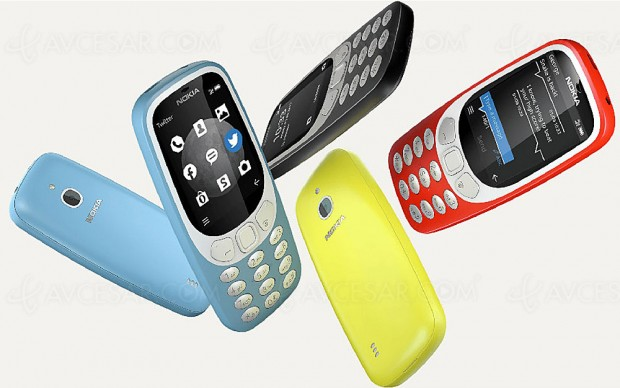 Terminal mobile Nokia 3310, maintenant en version 3G !