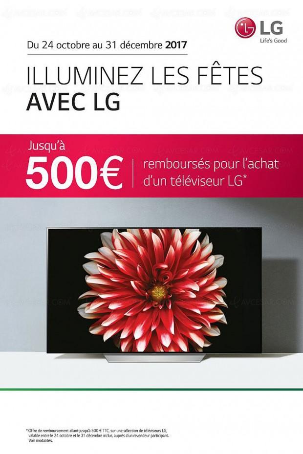 Offre de remboursement TV Oled LG, jusqu'à 500 € remboursés