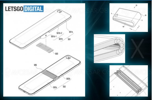 Smartphone Samsung Galaxy X pliable, premiers dessins et design…