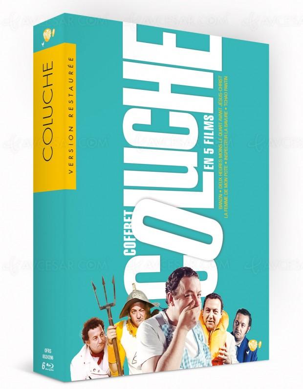 Trois classiques de Coluche restaurés en DVD et Blu-Ray