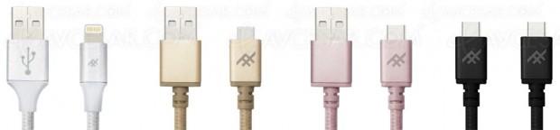 Câbles iFrogz USB Unique Sync Premium en tous genres