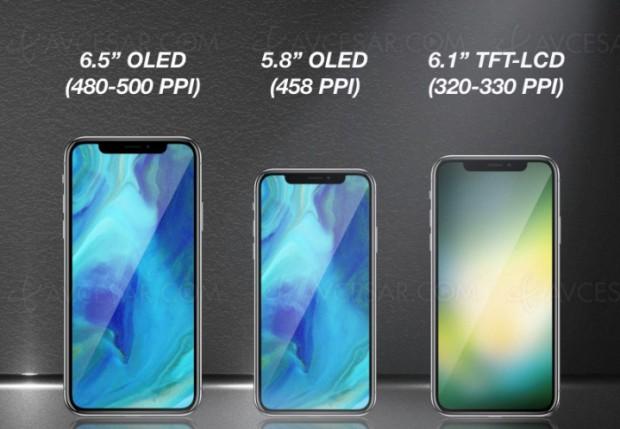 Trois iPhone « X » prévus en 2018 dont deux modèles Oled