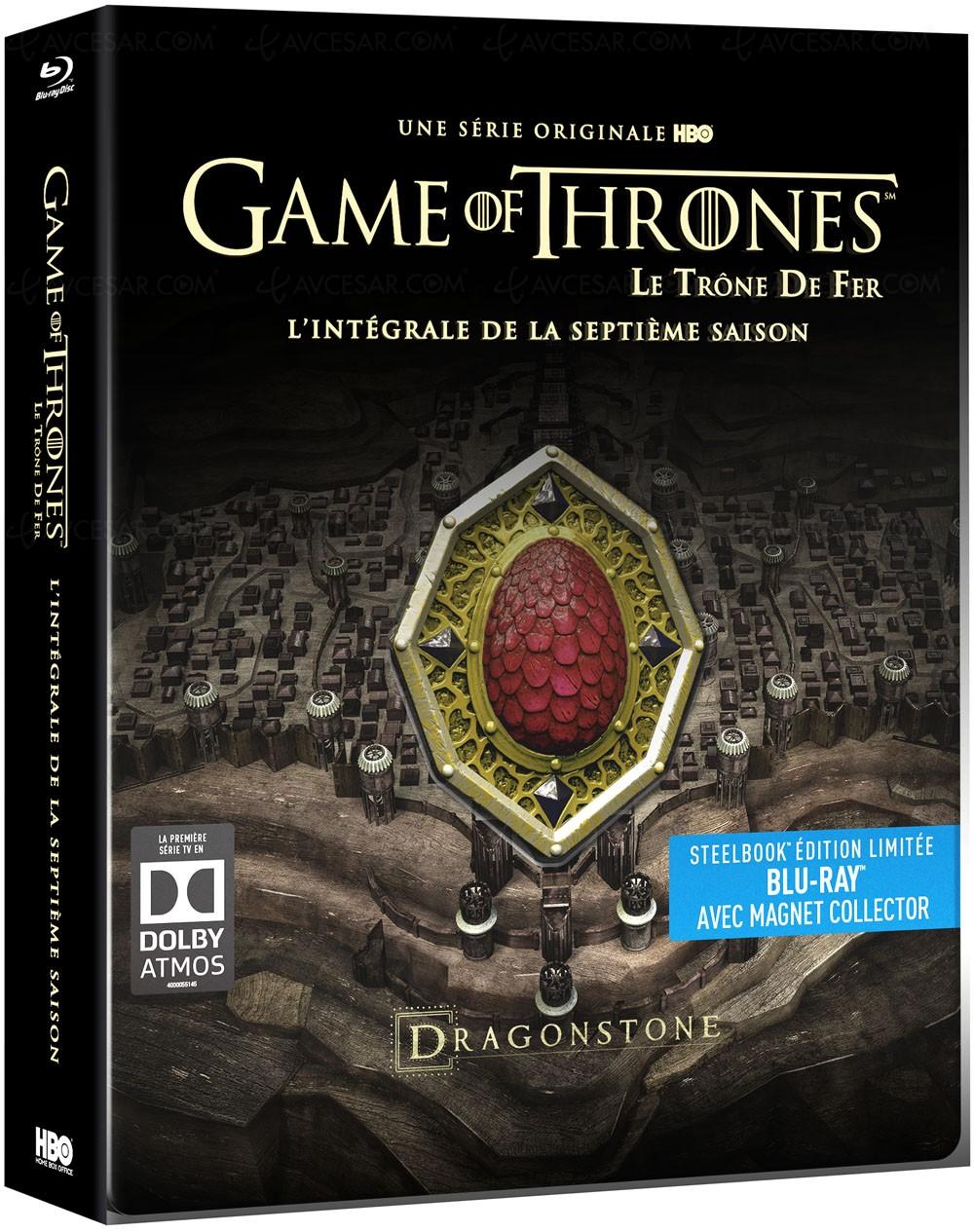 game of thrones saison 7 en blu ray et dvd 5 ditions au choix. Black Bedroom Furniture Sets. Home Design Ideas