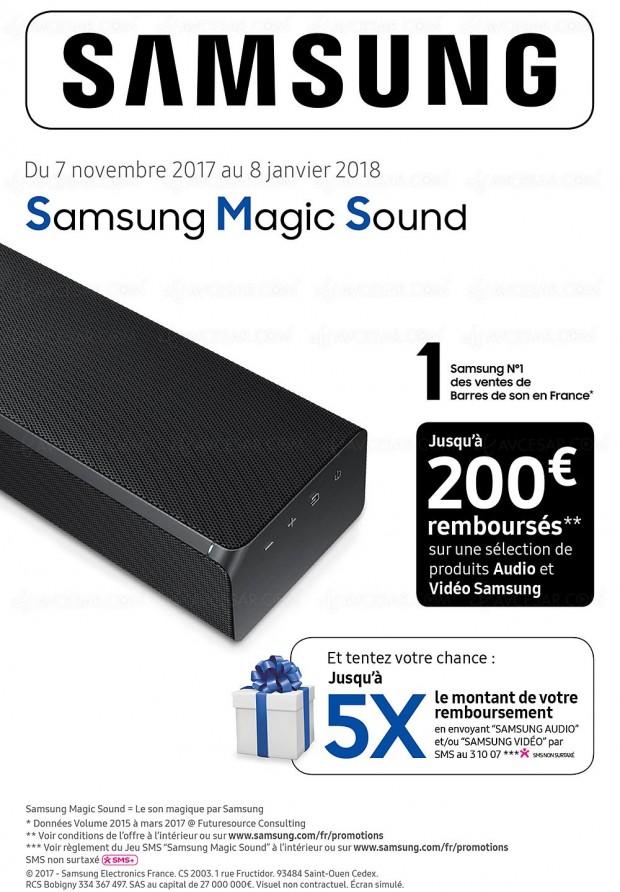 offre de remboursement samsung magic sound jusqu 39 200 rembours s. Black Bedroom Furniture Sets. Home Design Ideas