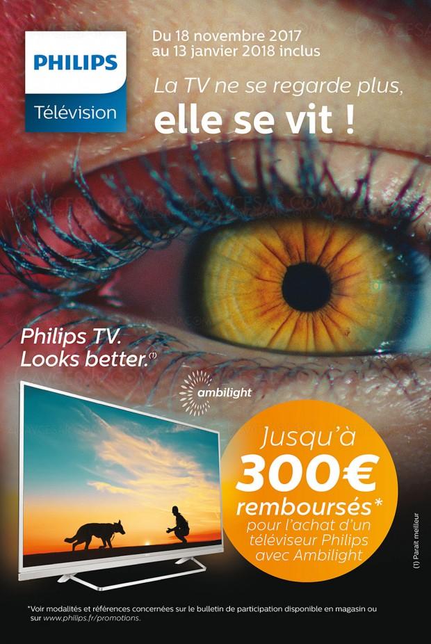 Offre de remboursement Philips TV Ultra HD, jusqu'à 300 € remboursés