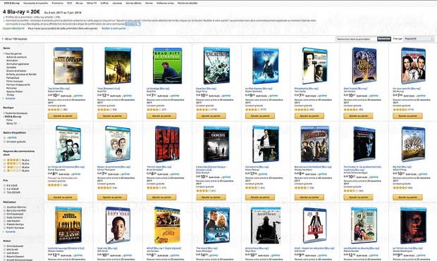 Promos Amazon sur 11 419 titres Blu‑Ray/DVD et série TV Amazon, récapitulatif des meilleures affaires du moment