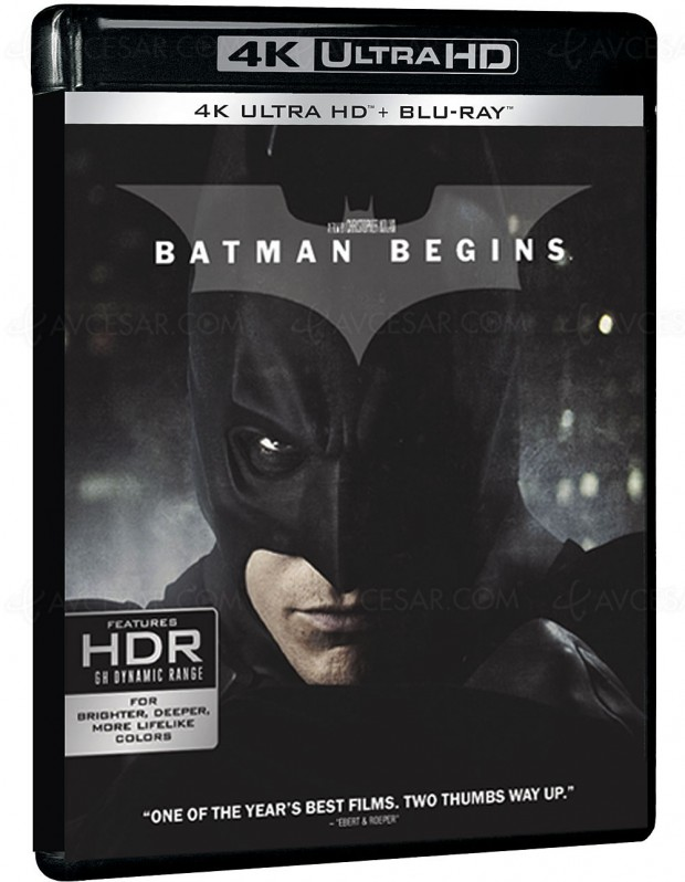 Batman Begins 4K Ultra HD Blu-Ray : seul, en coffret The Dark Knight Trilogy ou en coffret 7 films Nolan