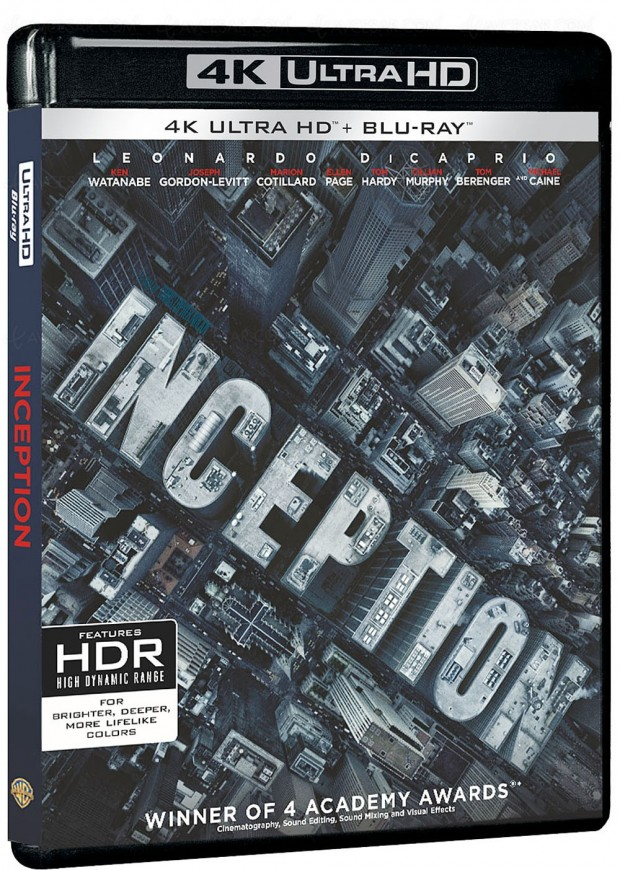 Inception 4K Ultra HD Blu-Ray : seul ou en coffret Nolan 4 ou 7 films