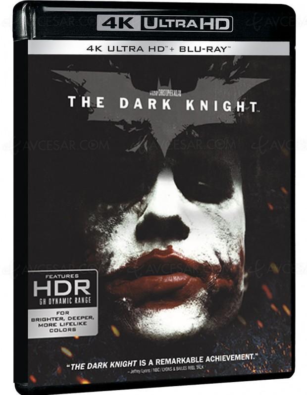 The Dark Knight 4K Ultra HD Blu-Ray : seul, en coffret The Dark Knight Trilogy ou en coffret 7 films Nolan