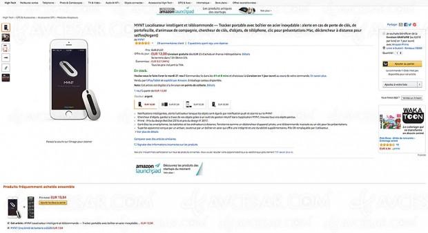Black Friday Week Amazon, tracker localisateur intelligent Mynt à -44%