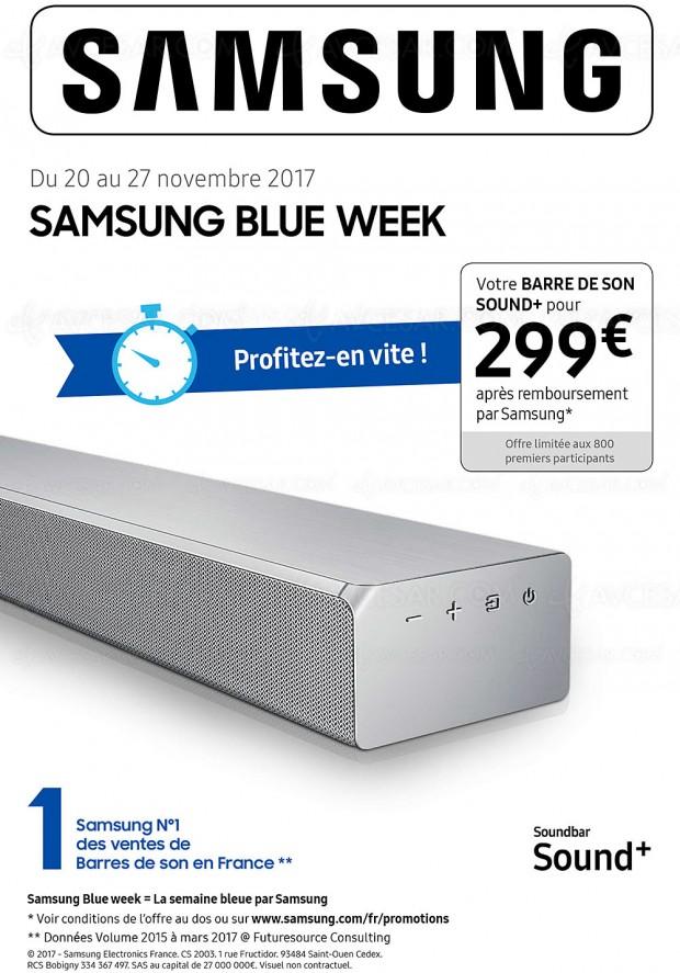 Offre de remboursement Samsung Blue Week Audio, Samsung HW‑MS650 ou Samsung HW‑MS651 à 299 €