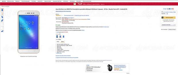Black Friday Week Amazon, smarphone ZenFone Live à ‑28%