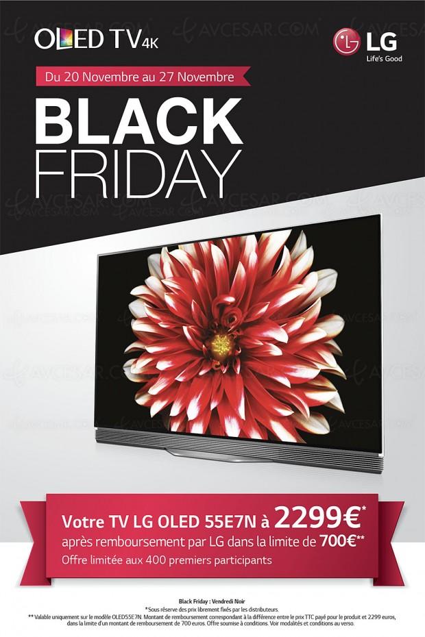 Offre de remboursement TV Oled LG Ultra HD Black Friday, LG 55E7N à 2 299 €