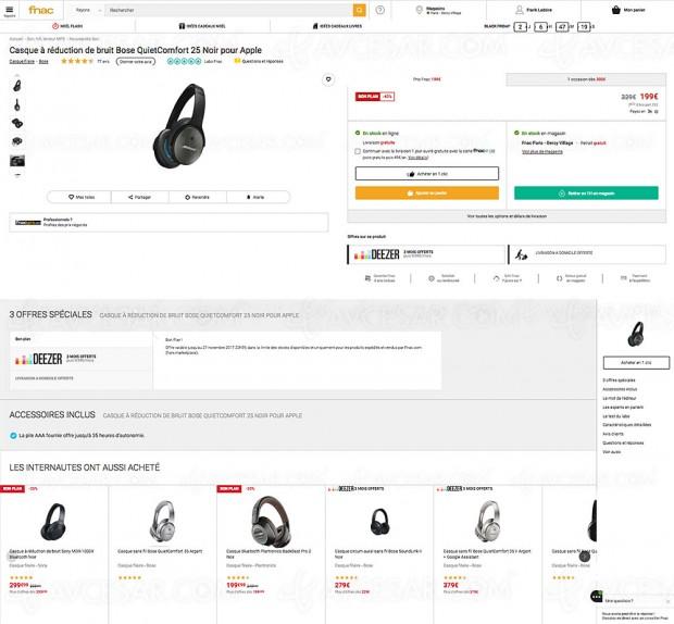 Bon plan casque Bose QuietConfort 25 à -40%, soit 130 € d'économie