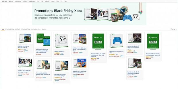 Black Friday Week, Xbox One S + Assassin's Creed Origins ou Forza Horizon 3 ou L'ombre de la guerre ou Minecraft à 179,99 €, soit ‑36%
