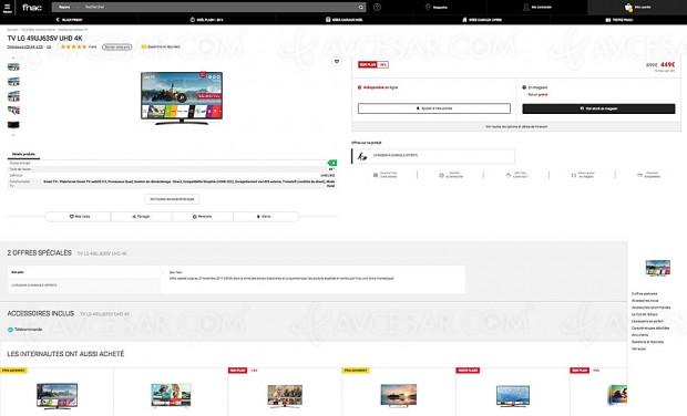 Black Friday TV LED UHD LG 49UJ635V à ‑36%, soit 250 € d'économie