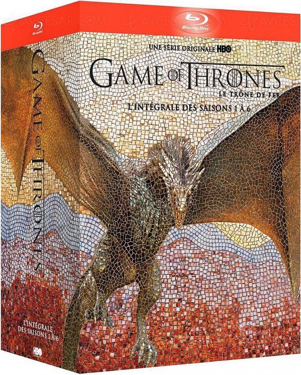 Black Friday, coffret Blu‑Ray Game of Thrones l'intégrale saisons 1‑6 à ‑65%, soit 51,77 € d'économie