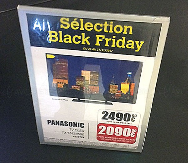 Black Friday, TV Oled Ultra HD Panasonic 55EZ950 à 2 090 €, soit 400 € d'économie