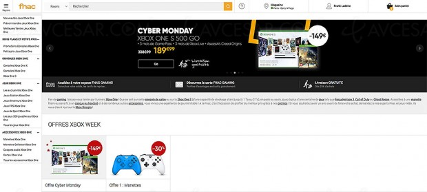 Cyber Monday, Xbox One S + Assassin's Creed Origins + abo 3 mois Game Pass/Xbox Live à 149 €, soit ‑50%