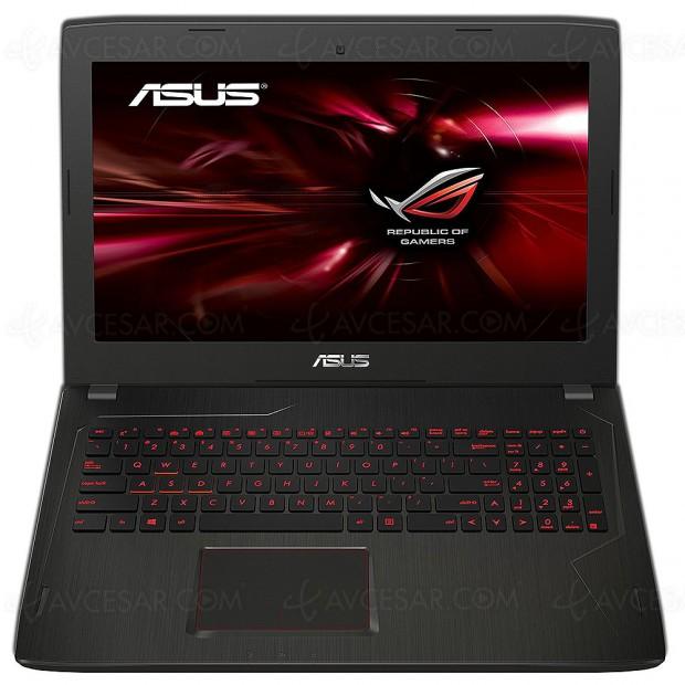 Cyber Monday, PC gamer 15,6'' Asus ROG FX553VE‑DM354T à ‑31%, soit 400 € d'économie