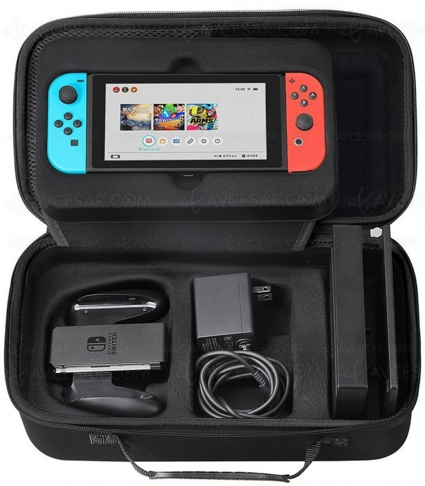 Vente Flash, housse de transport Nintendo Switch + 18 cartouches à 23,99 €, soit -25%