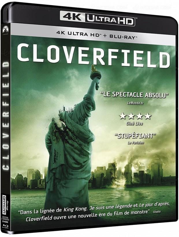 Cloverfield et 10 Cloverfield Lane 4K Ultra HD Blu-Ray en février