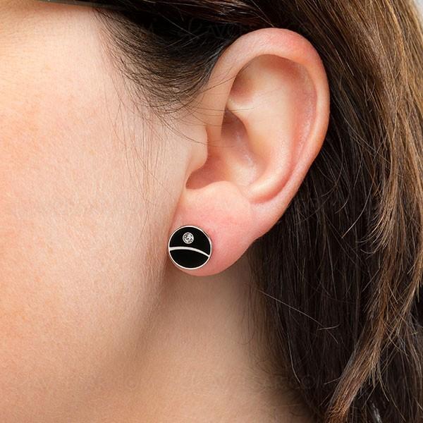 Boucles d'oreilles Étoile Noire, auriculaire en Force
