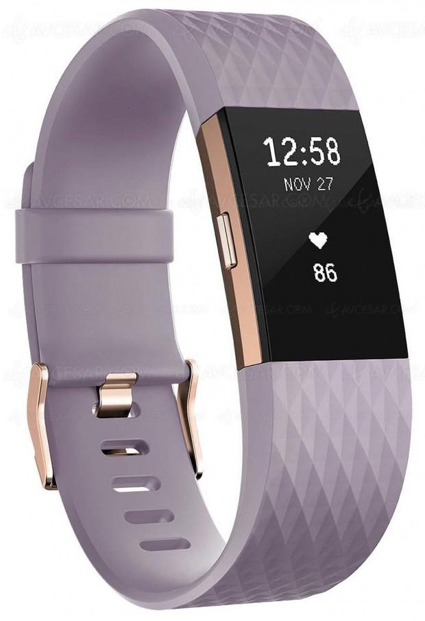 Rush de Noël Amazon, bracelet connecté Fitbit Charge 2 à ‑38%