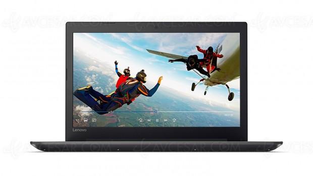 Rush de Noël Amazon, PC 15,6'' Lenovo Ideapad 320‑15AST à ‑30%, soit 150 € d'économie