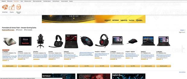 Rush de Noël Amazon, sélection Gaming Series pour joueurs PC de matériels et accessoires (souris, casque, SSD, portable…)
