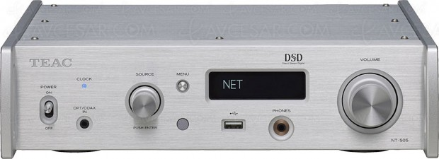 Teac NT-505, lecteur réseau DLNA, AKM Verita AK4497, DSD 22,5 MHz, Bluetooth APT‑X HD…