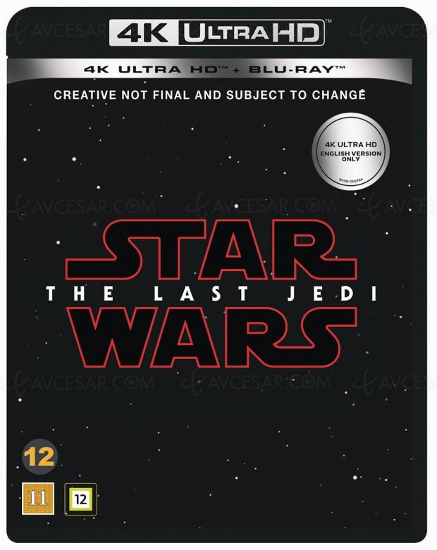 Star Wars : les derniers Jedi, premier film de la saga en 4K Ultra HD Blu‑Ray pour mai 2018 ?