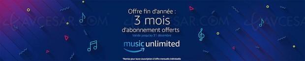 Amazon Music Unlimited, abonnement 3 mois gratuits pour les 15 000 premiers inscrits