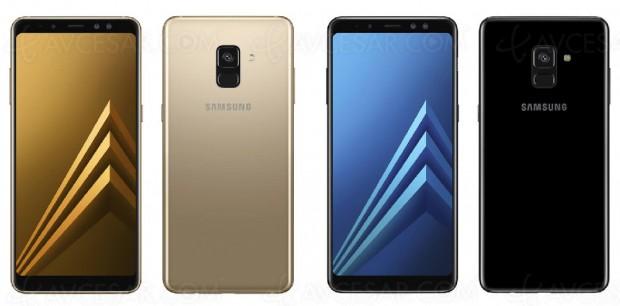 Nouveaux smartphones Samsung Galaxy A8 et Galaxy A8+ en janvier