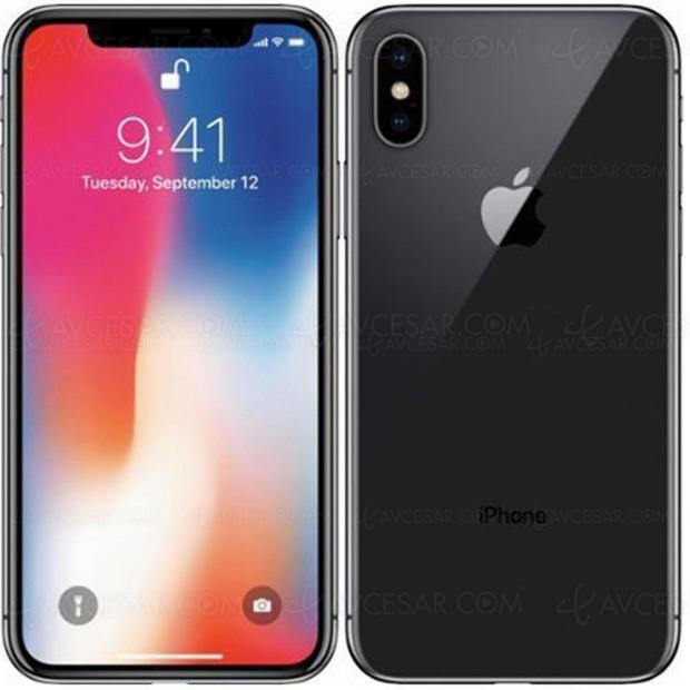 Rush de Noël, iPhone X 64 Go gris sidéral à 1 031,37 €