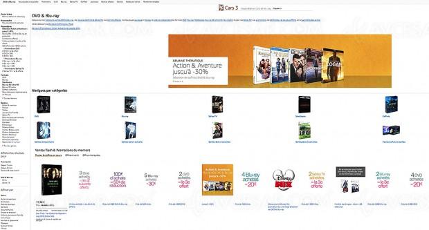 Promos Amazon sur 16 215 titres Blu‑Ray/DVD et séries TV Amazon, récapitulatif des meilleures promos du moment