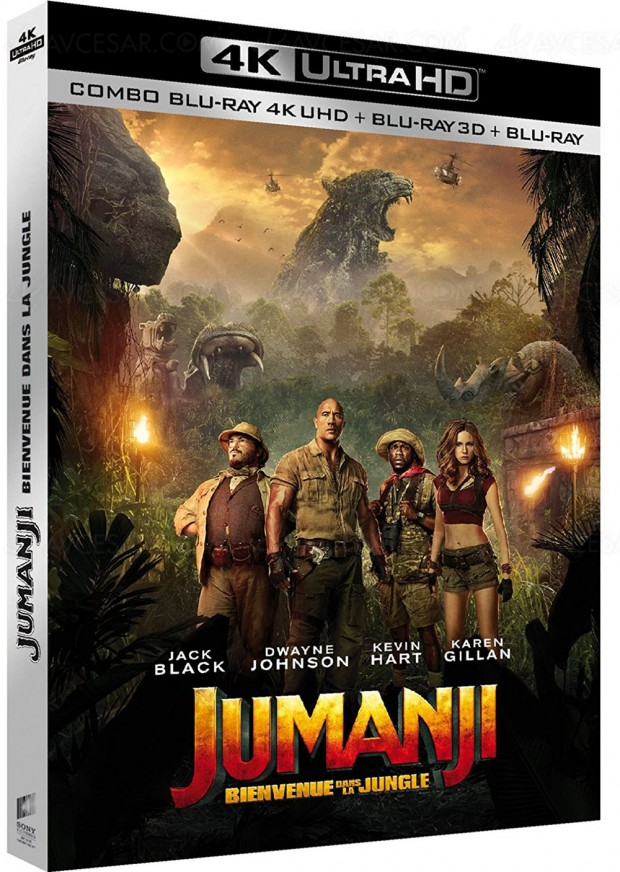 Jumanji : bienvenue dans la jungle à l'horizon en 4K Ultra HD Blu‑Ray