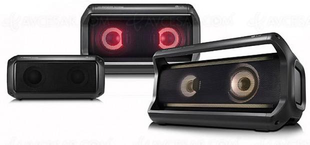 CES 18 > LG PK Series, enceintes portables Bluetooth APT‑X et lumineuses