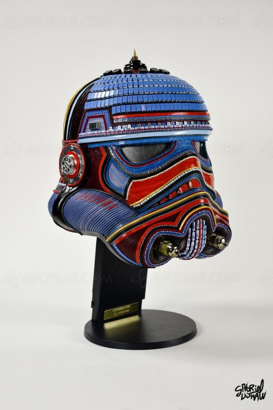 Récup' électronique et cuirs Louis Vuitton pour de superbes sculptures Star Wars