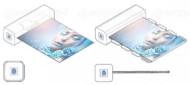 Écran enroulable portable par Samsung