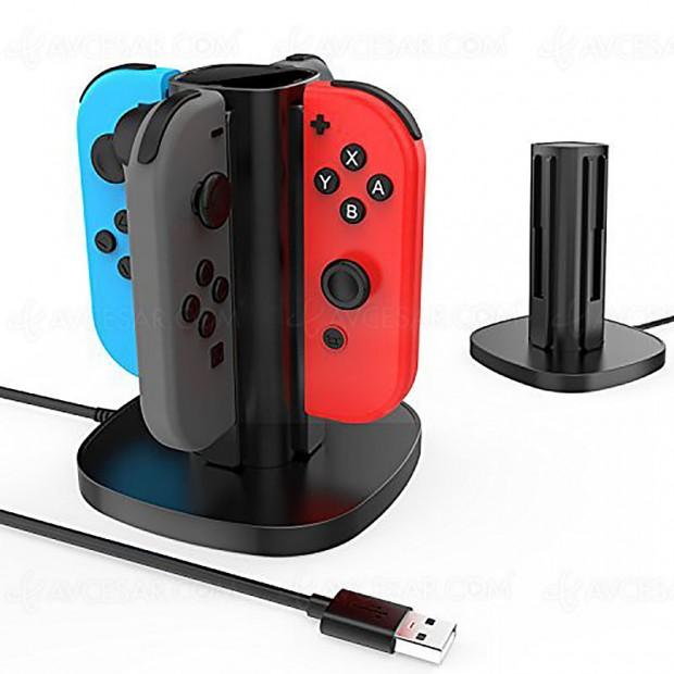Vente flash, chargeur 4 Joycon Nintendo Switch à -66%, soit 37,56 € d'économie