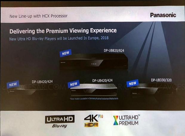 CES 18 >  Panasonic DP‑UB330/UB320, platines Ultra HD Blu‑Ray