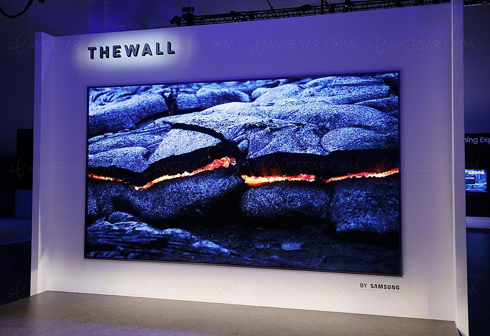 CES 2018 : Samsung présente The Wall, un affichage microLED de 146 pouces