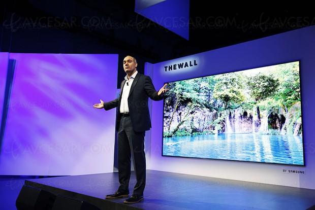 CES 18 > TV micro-LED 146'' Samsung The Wall, écran extensible et concurrent de l'Oled