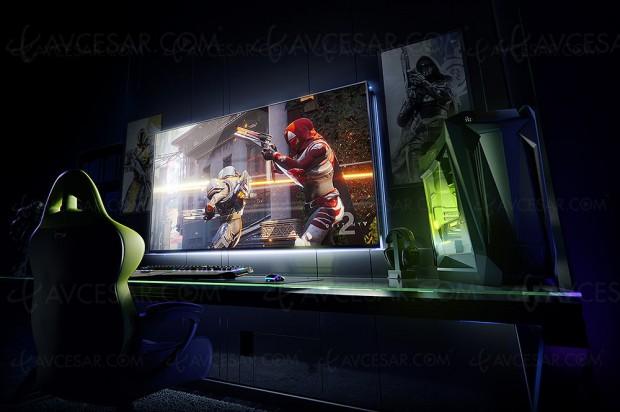 CES 18 > BFGD : Big Format Gaming Displays nVidia, moniteur Quantum Dots HDR 65'' G‑Sync avec nVidia Android TV intégré