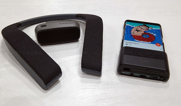 CES 18 > Enceinte portable directionnelle Samsung S‑Ray : adieu les casques audio ?