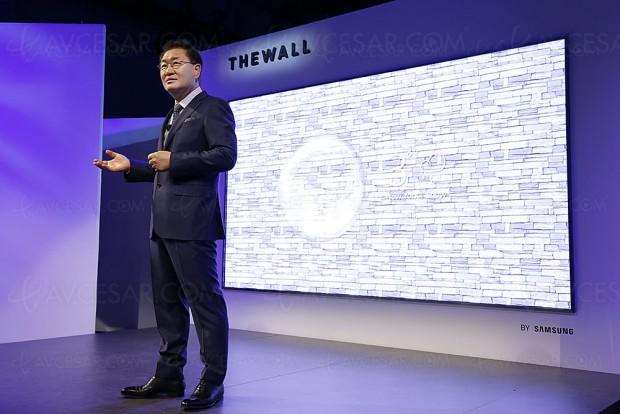 CES 18 > TV micro-LED 146'' Samsung The Wall, Quantum Dots au menu