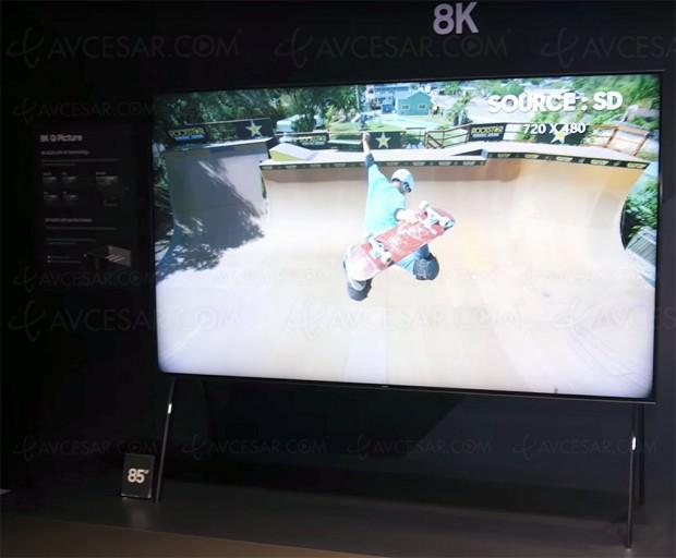 CES 18 > TV QLED 8K 85'' Samsung Q9S, 10 000 zones, Micro Full Array, 4 000 nits, 100% DCI-P3